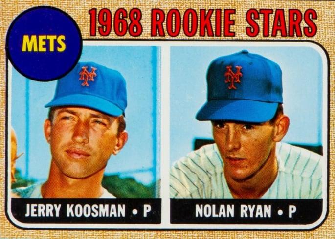 1968 topps nolan ryan rookie 177